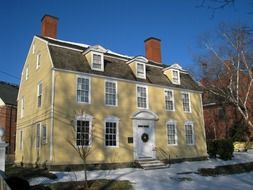john paul jones house, now museum, at winter, usa, New Hampshire, portsmouth