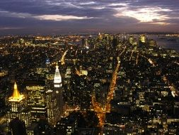 Lights of new york city
