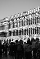 crowd of people at Doge\'s palace, italy, venice