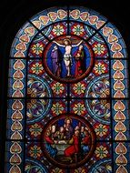 stained glass in Basel Cathedral