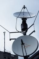 satellite dishes reception and broadcasting