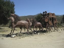 Sculpture horse carriage