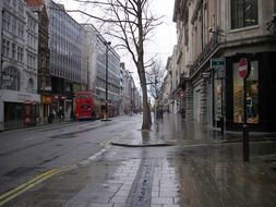 rainy weather in London