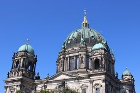 berlin germany church dome blue sky view