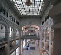beautiful interior of communications palace, spain, madrid