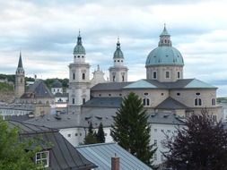 View of the domes of the Salzburg Cathedral