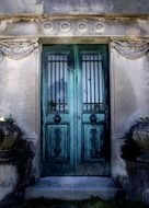 vintage closed entry door