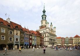 market square in old town, poland, poznan