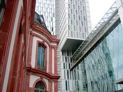 Modern architecture of Frankfurt