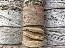 texture of aged weathered sandstone wall, uk, england, whitby abbey