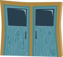 Drawing of entrance doors
