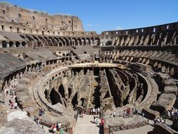 Ancient architecture of the Colosseum, Rome