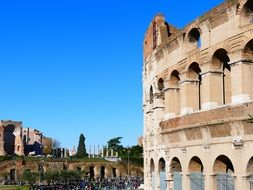 colosseum amphitheater in Rome place of interest in Italy