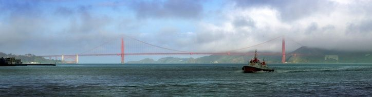 Remote Golden Gate Bridge in San Francisco