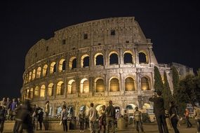 rome colosseum architecture evening view