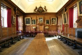 aged hall of university, uk, england, oxford