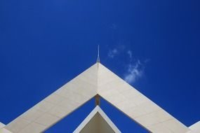 a view on the tip of a south african air force memorial in the form of star