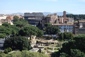 ruins of ancient roman forum, italy, rome