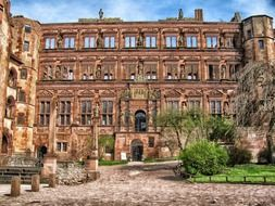 ruined Renaissance castle, germany, heidelberg