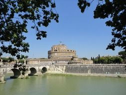 Mausoleum of Hadrian, Castel Sant\'Angelo at tiber river, italy, rome