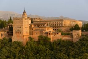 Renaissance palace of charles v in Alhambra fortress, spain, granada