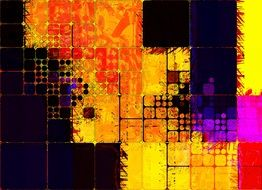 colorful abstract squares
