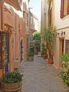 old houses on Crete, Greece
