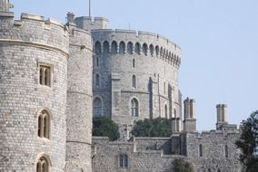 a side view of Windsor Castle, United Kingdom