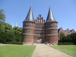medieval city gate of Lubeck