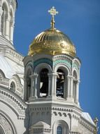 steeple of kronshtadt cathedral, russia, st petersburg