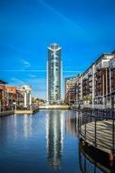 Gunwharf Quays shopping centre, uk, england, portsmouth