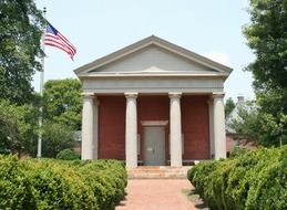 Courthouse with columns in Virginia