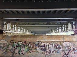 grunge graffiti under bridge