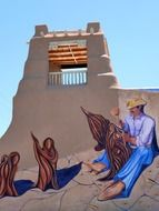 painted house wall taos city