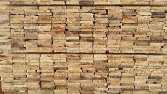 wooden boards in pile, construction material