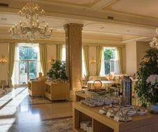 villa cortine palace breakfast room Italy