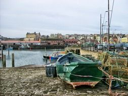 Harbour in Scarborough in England