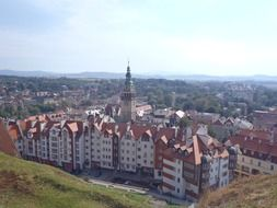 panoramic view of the old city on a sunny day