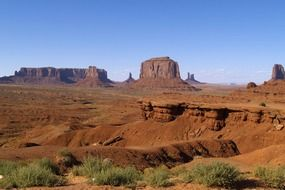 scenic rock formations in red desert, usa, utah usa, monument valley