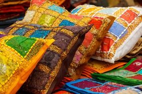 traditional colorful turkish cushions