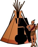 tent teepee drawing