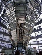 famous glass dome in Berlin Germany
