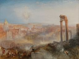 painting ruins of ancient Rome painter William Turner