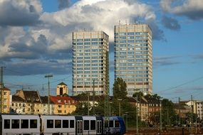 twin towers in Mainz, Germany