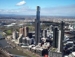 panoramic view of melbourne on a sunny day