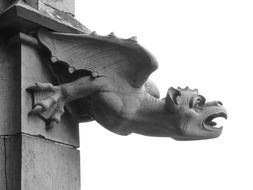 Gargoyle statue at Ulm Cathedral