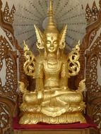 golden sculpture in myanmar