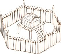 fence as a medieval defense
