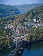 Harpers Ferry architecture bird's-eye view