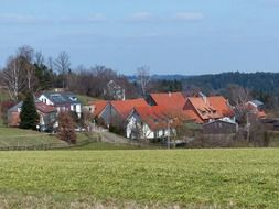 distant view of a village in southern Germany